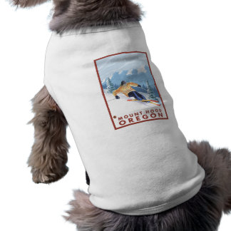 Downhhill Snow Skier - Mount Hood, Oregon Pet Clothes