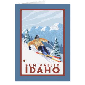Downhhill Snow Skier - Sun Valley, Idaho Card