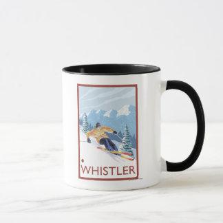 Downhhill Snow Skier - Whistler, BC Canada Mug