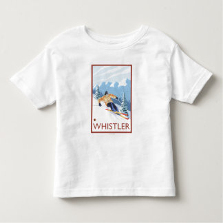 Downhhill Snow Skier - Whistler, BC Canada Toddler T-shirt