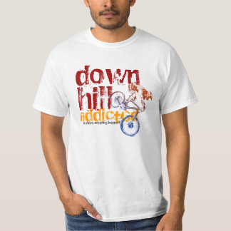 Downhill Addicted Cool Mountain Biking Design T-Shirt