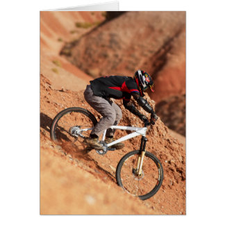 Downhill BMX Racer Card