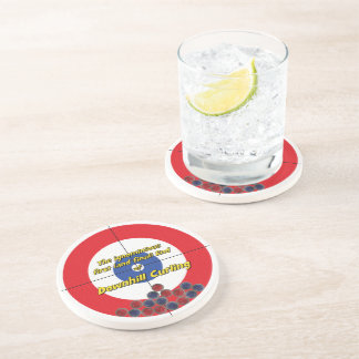 Downhill Curling Fail Sandstone Coaster - (Red)