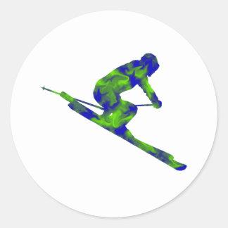 Downhill Escape Classic Round Sticker