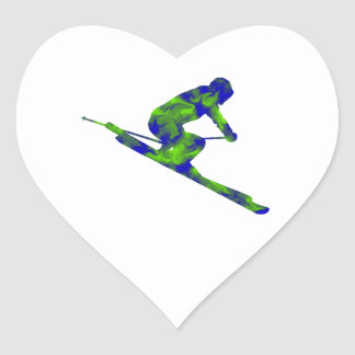 Downhill Escape Heart Sticker