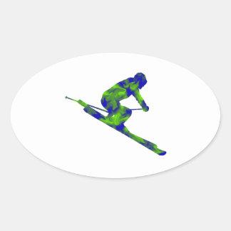 Downhill Escape Oval Sticker