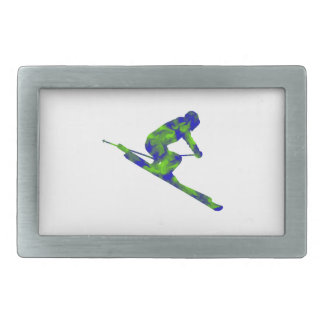 Downhill Escape Rectangular Belt Buckles