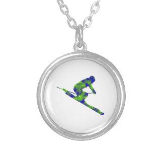Downhill Escape Silver Plated Necklace