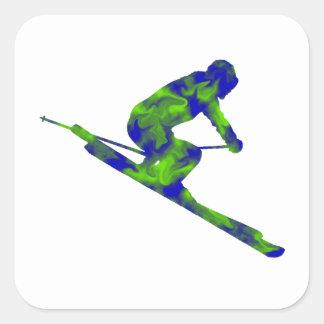 Downhill Escape Square Sticker