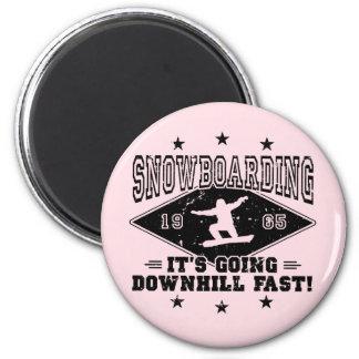 DOWNHILL FAST! (blk) 2 Inch Round Magnet