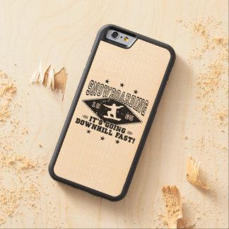 DOWNHILL FAST! (blk) Carved Maple iPhone 6 Bumper Case