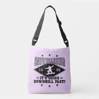 DOWNHILL FAST! (blk) Crossbody Bag