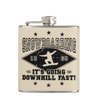 DOWNHILL FAST! (blk) Hip Flask