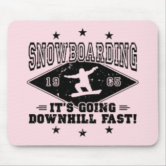 DOWNHILL FAST! (blk) Mouse Pad