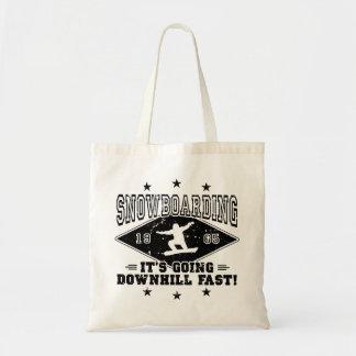 DOWNHILL FAST! (blk) Tote Bag