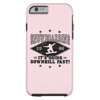 DOWNHILL FAST! (blk) Tough iPhone 6 Case