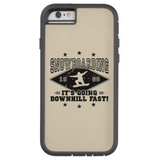 DOWNHILL FAST! (blk) Tough Xtreme iPhone 6 Case