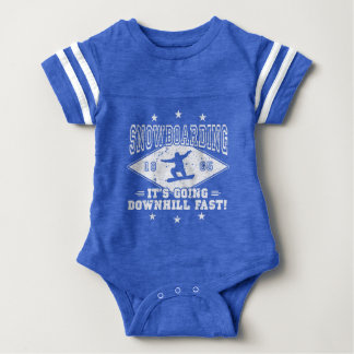 DOWNHILL FAST! (wht) Baby Bodysuit