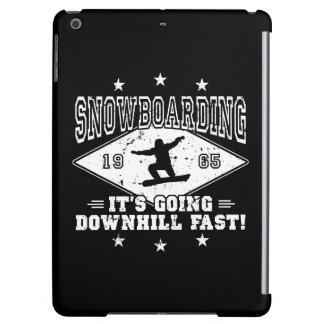 DOWNHILL FAST! (wht) Case For iPad Air