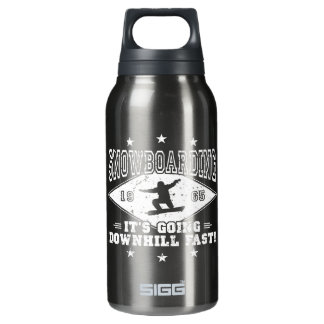 DOWNHILL FAST! (wht) Insulated Water Bottle