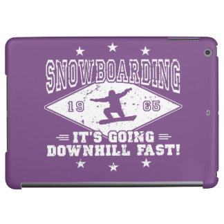 DOWNHILL FAST! (wht) iPad Air Cover