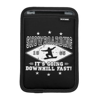 DOWNHILL FAST! (wht) iPad Mini Sleeve