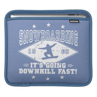 DOWNHILL FAST! (wht) iPad Sleeve
