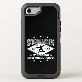 DOWNHILL FAST! (wht) OtterBox Defender iPhone 8/7 Case
