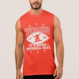 DOWNHILL FAST! (wht) Sleeveless Shirt