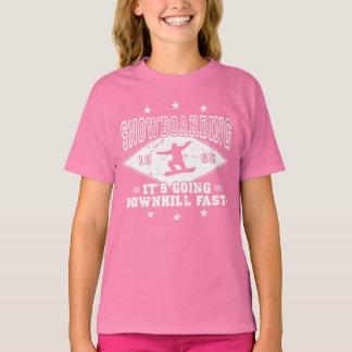 DOWNHILL FAST! (wht) T-Shirt
