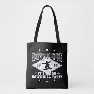 DOWNHILL FAST! (wht) Tote Bag