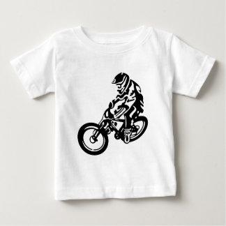 Downhill mountain bike rider baby T-Shirt