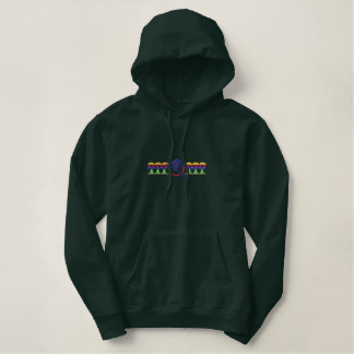 Downhill Skier Logo Embroidered Hoodie