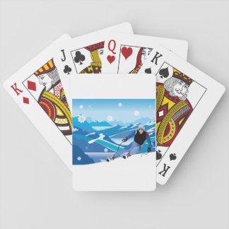 Downhill Skier Playing Cards