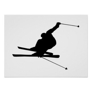 Downhill Skier Poster