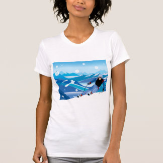 Downhill Skier Womens T-Shirt