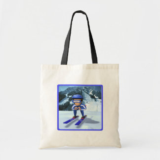 Downhill Skiing 2 Tote Bag