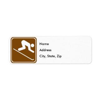 Downhill Skiing Facilities Highway Sign