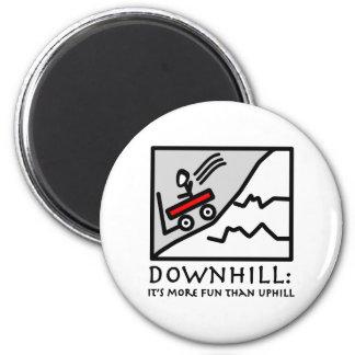 Downhill Thrill Wagon Magnet