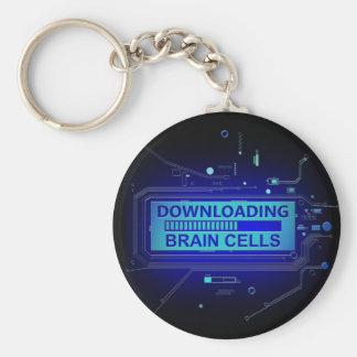 Downloading brain cells. keychain