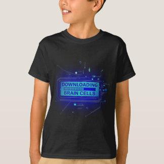Downloading brain cells. T-Shirt