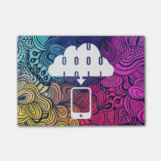 Downloading Cellphones Pictogram Sticky Note