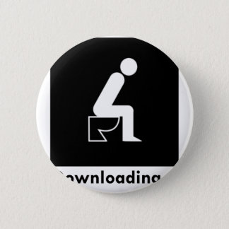 Downloading Poop 2 Inch Round Button