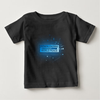 Downloading world peace. baby T-Shirt