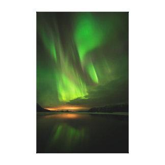 Downstream Aurora Canvas Print