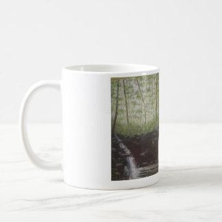 """DOWNSTREAM WATERFALL AT WOLF PEN MILL"" COFFEE MUG"