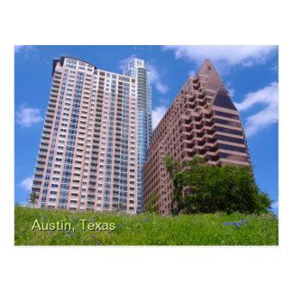 Downtown Austin with Bluebonnets Postcard