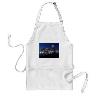 Downtown Baltimore Maryland Dusk Skyline Moon Standard Apron