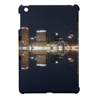 Downtown Baltimore Maryland Night Skyline Reflecti iPad Mini Case