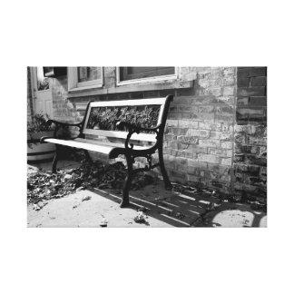 Downtown Bench Canvas Print